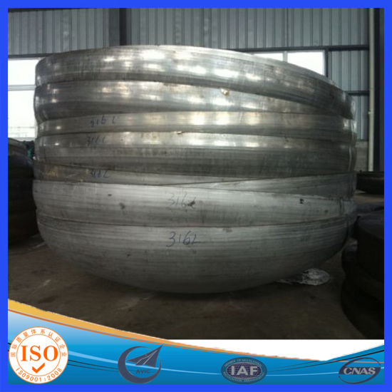 Cold Formed Ellipsoidal Dished Heads for Storage Tank Pressure Vessel pictures & photos