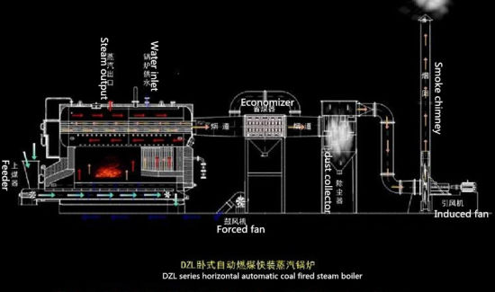 10t Coal Fired Horizontal Three Pass Steam Boiler pictures & photos