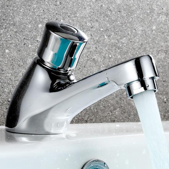 Public Press Delay Faucet Push Type Self Closing Saving Water Wall Mounted Tap