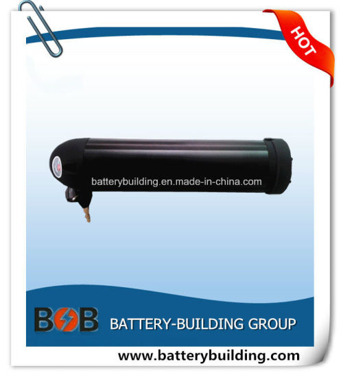 Hot Sell 48V 10ah Lithium Bottle Type E-Bike Battery Pack with Black Color and 2 Years Warranty