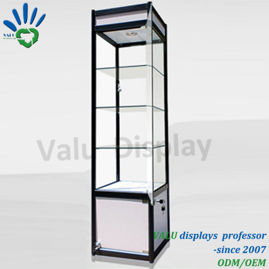 China Popular Window Display Showcase Lockable Glass Cabinet With