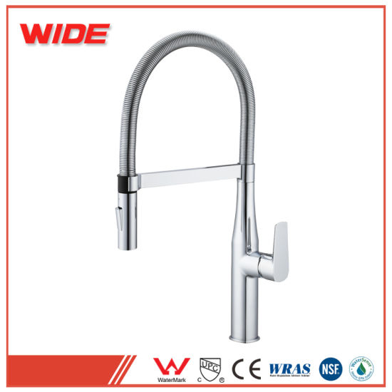Copper Kitchen Sink Hot and Cold Water Faucet for Spring Tube pictures & photos