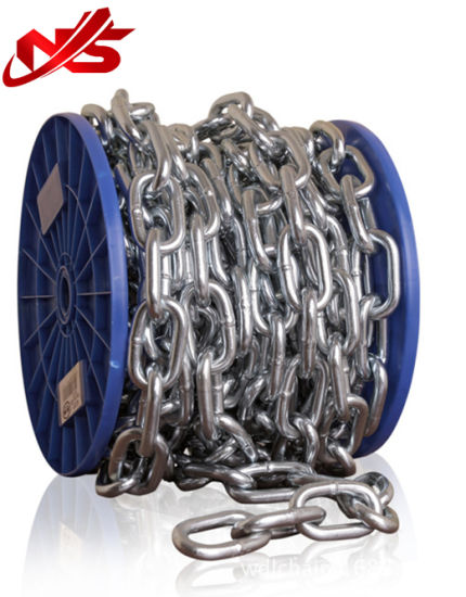 Welded Electrogalvanized DIN763 Steel Link Chain pictures & photos