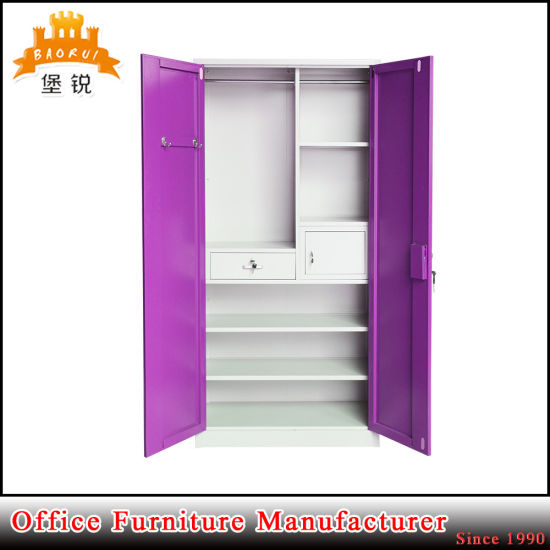 China Jas 071 Metal Cheap Clothes Cabinet Almirah Designs