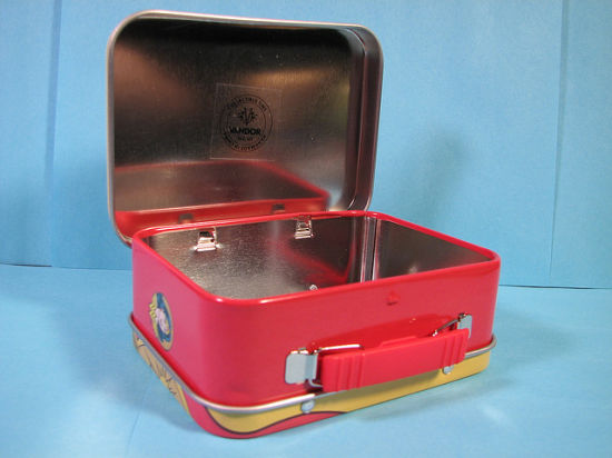 Wholesale Tin Lunch Food Box with Plastic Handle pictures & photos