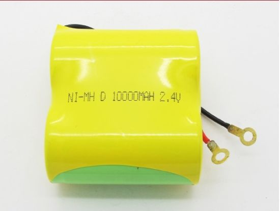 2.4V 10ah D Size NiMH Rechargeable Battery Pack pictures & photos
