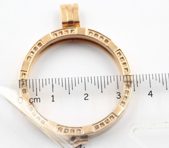 30mm/35mm Rd Fashion Locket Pendant Jewelry with Micro-Pave Stones pictures & photos