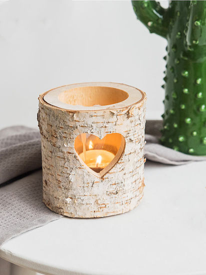 Wholesale Modern Wooden Candle Holders Wood Candle Stick For Home Decoration