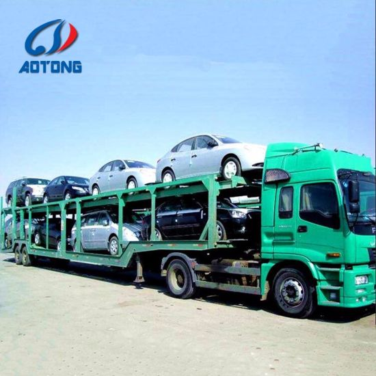 Heavy Duty Double/Tri Axle for 6/8cars Transporting Car Carrier Trailers