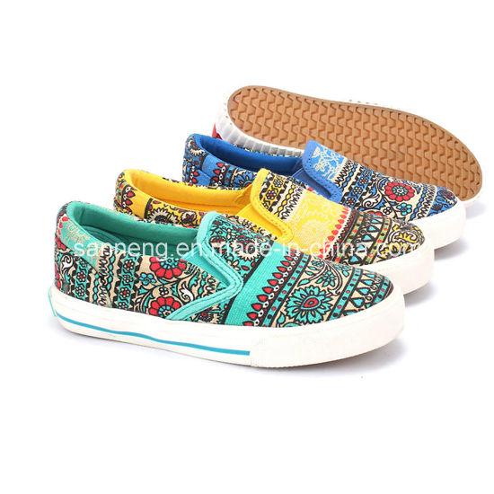 Women Retro Shoes with Bright Color (SNC-020666)