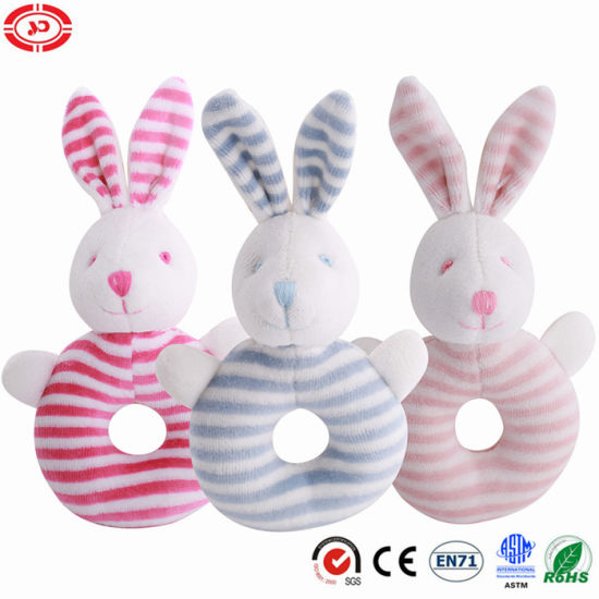 Super Soft Stuffed Rabbit Plush Rattle Funny Game Toy pictures & photos