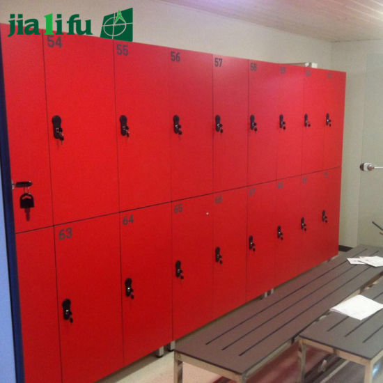 Red 2 Tiers HPL Z-Shape Locker pictures & photos