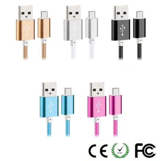 150cm Colorful Weave Ligthning USB Data Charger Cable for Samsung