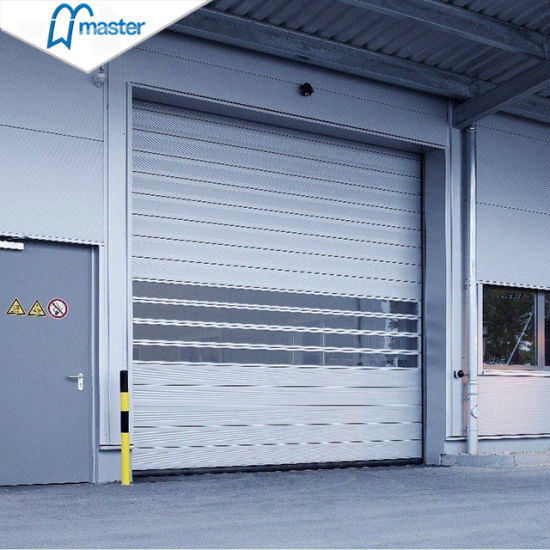 Easy Operational Logistics PU Foam Spiral High Speed Hard Fast Rolling Doors