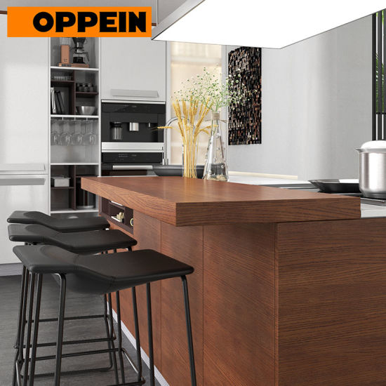 China Oppein Fitted Kitchens Ready To Assemble Display Kitchen Cabinets For Sale China High Gloss Kitchen Cabinet Modern Kitchen Cabinet