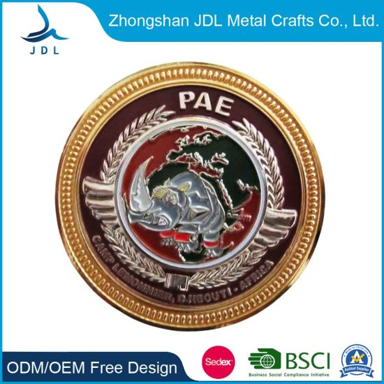 Custom Wholesale Metal Gold Coin /Challenge Coin/3D Coin/Souvenir Coin Crafts Coin Holder Pae Coin (097)