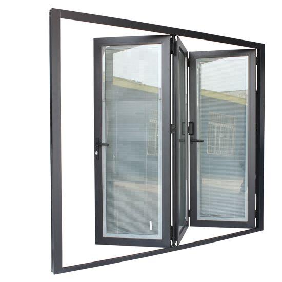 Outside Custom Size External Veranda Corner Sliding Folding Doors Aluminum Louvered Bifold Bi Fold Doors