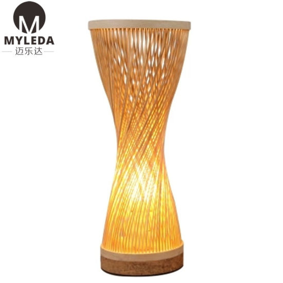 Modern Bedside Reading LED Classicon Bamboo Lantern Light Table Lamp