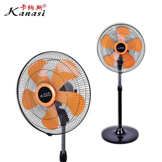 12''home Stand Fan with Plastic Housing Copper Wire Motor and Ce/CB