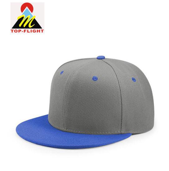 Quality Fashion Customized Cotton Blank Hip Pop Flat Snapback Caps