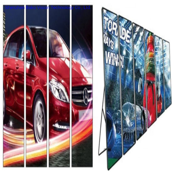 P2.5 Portable Full Color Indoor Digital Mirror LED Poster Ultra Thin HD for Advertising