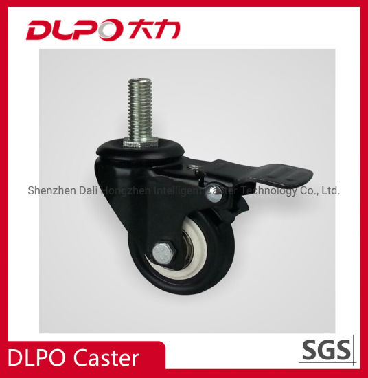 Black Lightweight Polyurethane Casters for Trolleys, Boss Chairs, Furniture Wheels, etc.