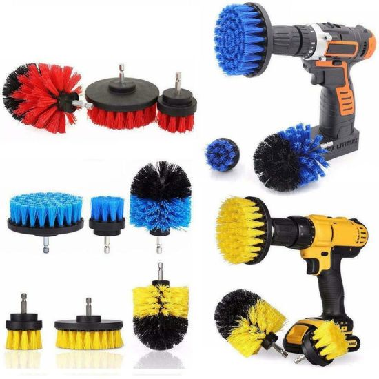 Various Colors Soft/Hard/ Extra Hard Electric Cordless Cleaning Drill Brush Kit OEM