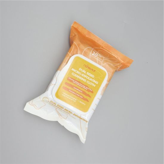 Dual Side Exfoliating DOT Facial Cleaning Wet Wipes