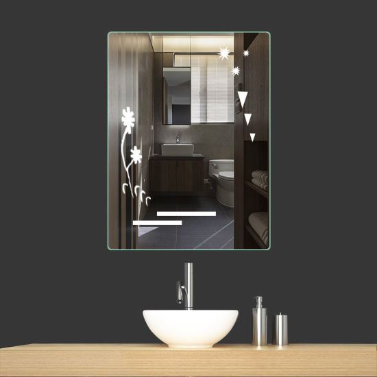 5mm High Quality Middle East Market Hot Sale Bathroom LED Mirror with Touch Snesor