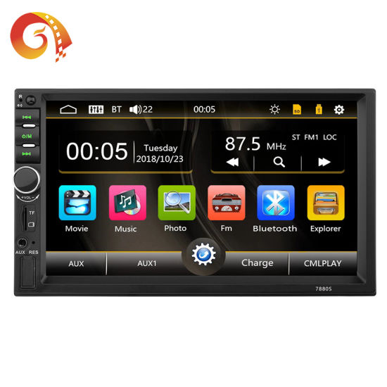 Factory Supply Universal 7 Inch Touch Screen Double 2 DIN Android Auto WiFi Multimedia System Radio Stereo Audio Car DVD Video MP5 Player
