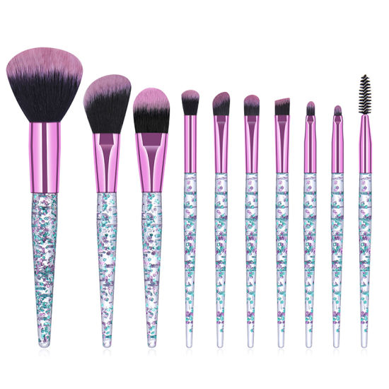 China Makeup Brushes Set 10 Pieces