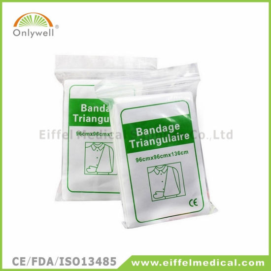 Medical Cotton Gauze Training Triangular Bandage with Ce Approved pictures & photos