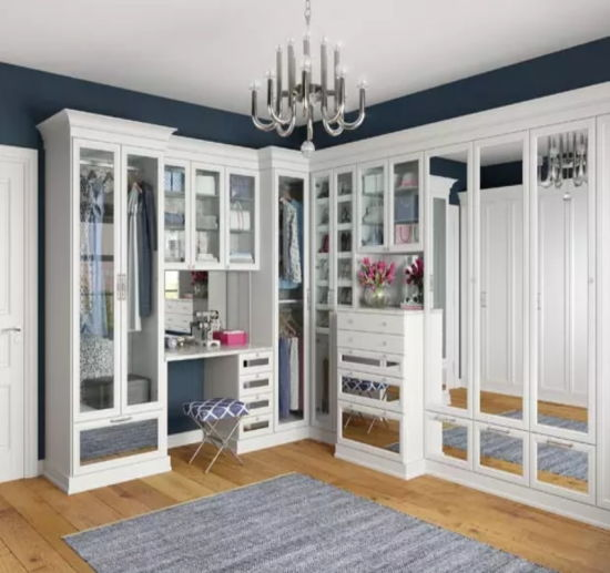 China Customized American Modern Walk In Closet Wardrobes