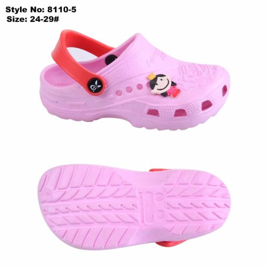 06c516066b0752 New Model Girls Clogs Children EVA Garden Sandal Shoes Kids Colorful  Slippers