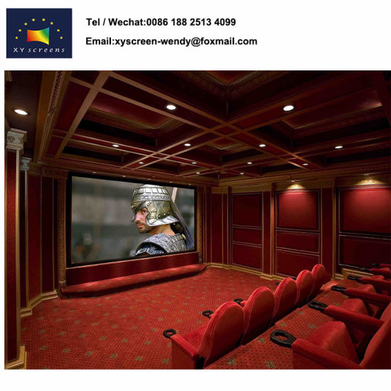 China Matt White PVC Fixed Frame Projector Screen for Home Theater ...