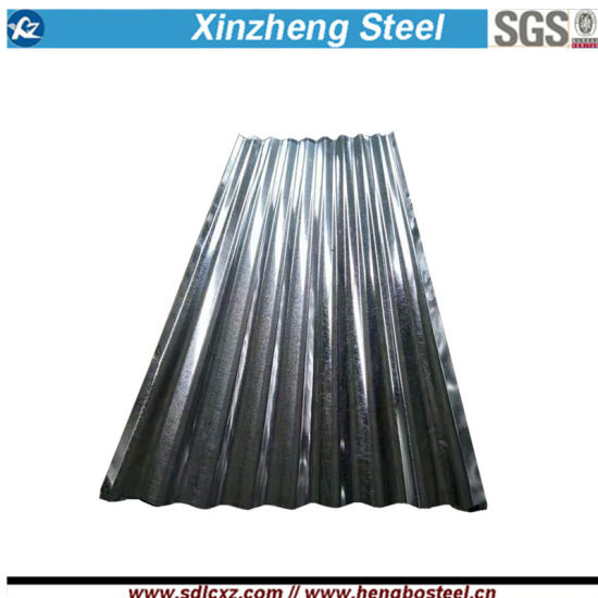 Dx51d 0.125mm-0.80mm Hot Dipped Galvanized Corrugated Steel Sheet