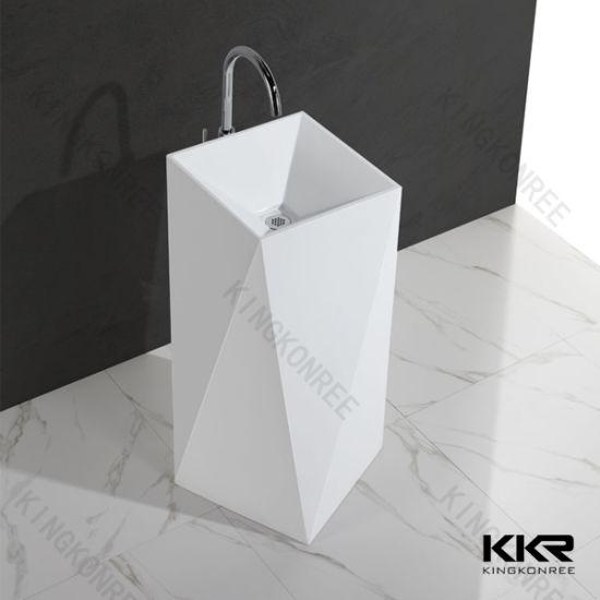 Factory Price Marble Stone Freestanding Bathroom Basin