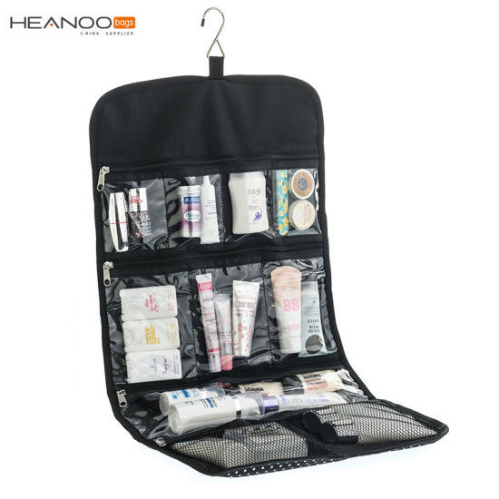 10be88985d40 Foldable Makeup Organizer Women Travel Clear Hanging Toiletry Bag