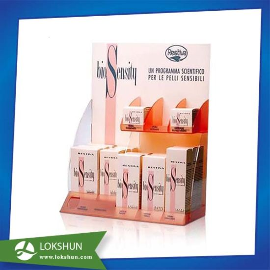 Full Color Acrylic Tabletop Shelf Display With Dividers