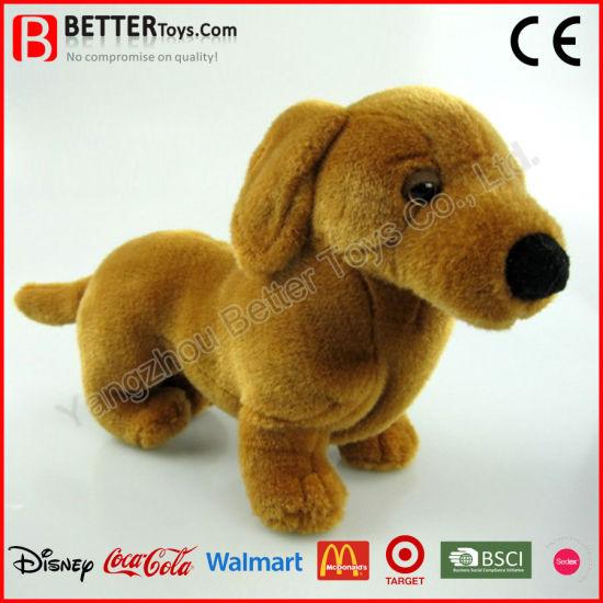 China En71 Lifelike Stuffed Animal Soft Toy Plush Dachshund Dog