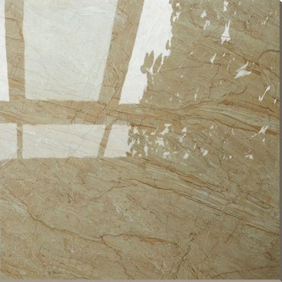china price of 600x600 vitrified lemon yellow marble floor tiles
