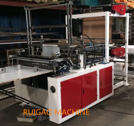 Automatic High Speed Two Line Polythene Garbage Plastic T-Shirt Bag Cutting Machine pictures & photos