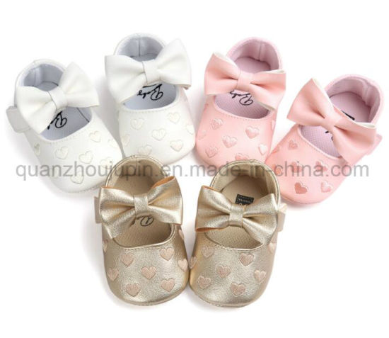 OEM PU Cute Soft Soles Toddler Prewalker Baby Shoes pictures & photos