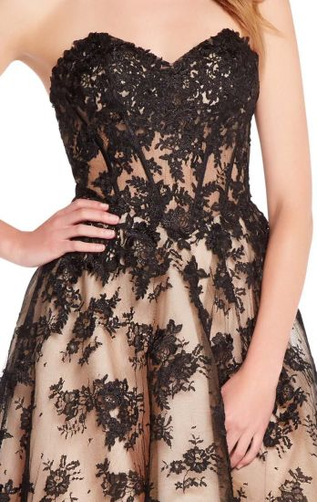 Lace Party Prom Dress Hi-Low Champagne Black Cocktail Evening Dress Ya126 pictures & photos