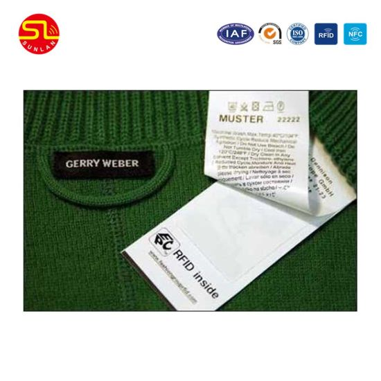 Nice Price Customized Long Read Distance RFID UHF Cloth Hang Tag for Garment pictures & photos