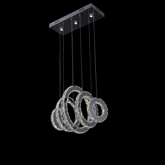 China Ring Crystal Chandelier Modern LED Crystal Pendant Lamp ...