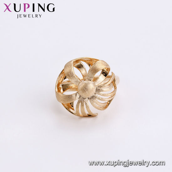 12927 Latest Fashion Gold-Plated Diamond CZ Jewelry Finger Ring in Nickel Free for Women pictures & photos