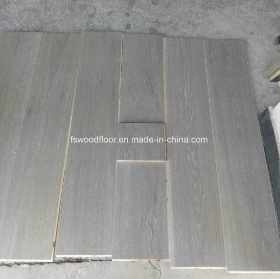 Cement Gray White Oak Engineered Wood Flooring---15-18mm Thickness pictures & photos