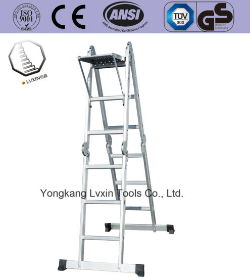 En131 Standard 4X3 Aluminum Multifunction Ladders pictures & photos