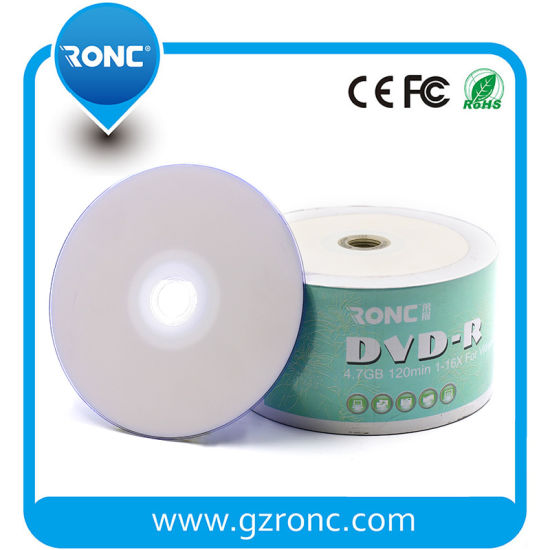 image relating to Ink Jet Printable Dvd named China Blank DVD Inkjet Printable DVD-R 16X 4.7GB - China DVD